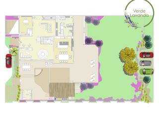 Verde Lavanda Front yard Multicolored