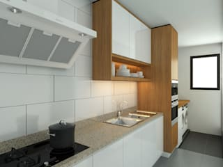 Stonor Luxury Condo inDfinity Design (M) SDN BHD Modern style kitchen