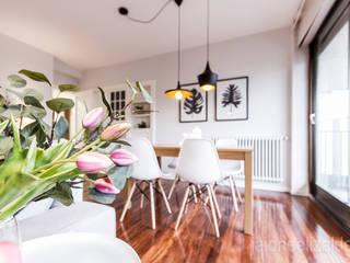 Scandinavian style dining room by jaione elizalde estilismo inmobiliario - home staging Scandinavian