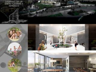 Proyecto de departamentos: Escaleras de estilo  por ARQ. ERICK OCHOA