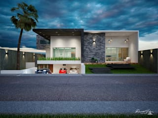Casas unifamiliares de estilo  por Grupo ARK
