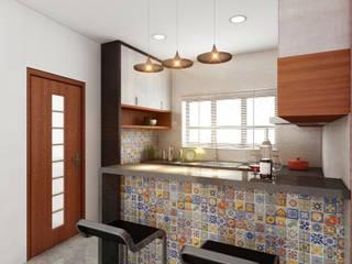 Cocinas de estilo tropical de S Squared Architects Pvt Ltd. Tropical