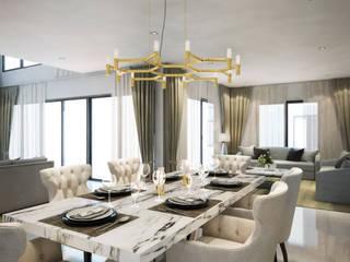 Dining room ห้องทานข้าว:  ห้องทานข้าว by Luxxri Design
