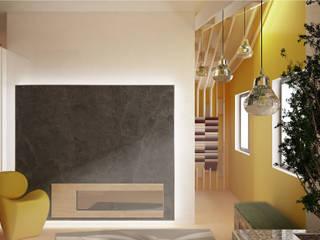 nuovo spazio espositivo showroom Morgante: Spazi commerciali in stile  di Simone Fratta Architetto