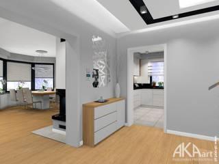 Dom w Kartuzach: styl , w kategorii Korytarz, przedpokój zaprojektowany przez AKAart Pracownia Projektowa,
