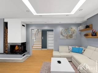 Dom w Kartuzach: styl , w kategorii Salon zaprojektowany przez AKAart Pracownia Projektowa,