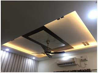 False Ceiling in the Commom Bedroom:  Bedroom by U and I Designs