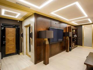 Pasillos, vestíbulos y escaleras de estilo ecléctico de Дизайн Студия 33 Ecléctico