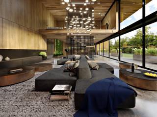 Ristrutturazione Ingresso e sale relax per ufficio aVancouver: Studio in stile  di Atelier116, Moderno