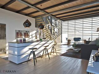 Loft a Milano: Cucina attrezzata in stile  di Atelier116, Moderno
