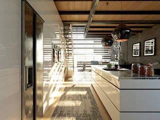 Loft a Milano: Cucina attrezzata in stile  di Atelier116, Industrial