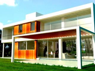 Obra H.D: Casas unifamiliares de estilo  por I.S. ARQUITECTURA