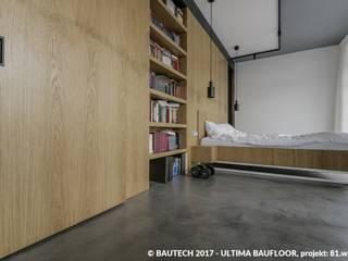 Bautech Sp. Z O.O. Chambre moderne Béton Gris