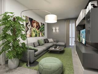 angolo divano: Soggiorno in stile in stile Moderno di studiosagitair