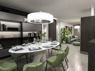 zona pranzo: Sala da pranzo in stile in stile Moderno di studiosagitair