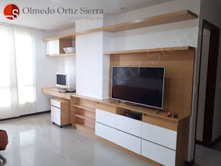 Cocinas Integrales Olmedo Ortiz Sierra Living roomTV stands & cabinets Chipboard Multicolored