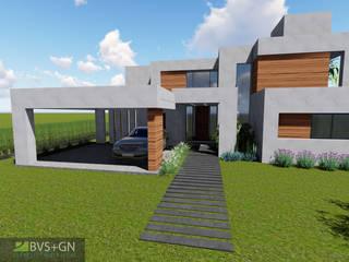 VIVIENDA O: Casas unifamiliares de estilo  por BVS+GN ARQUITECTURA,Moderno