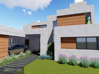 VIVIENDA O: Casas de estilo  por BVS+GN ARQUITECTURA,Moderno