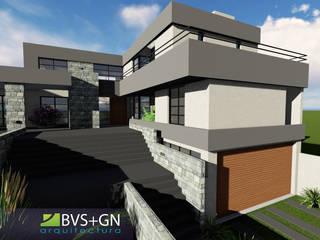 VIVIENDA VB: Casas de estilo  por BVS+GN ARQUITECTURA,Moderno
