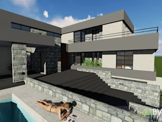 VIVIENDA VB: Casas unifamiliares de estilo  por BVS+GN ARQUITECTURA,Moderno