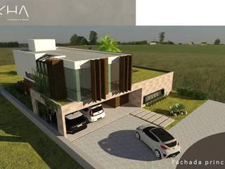 casa jardim do golfe por okha arquitetura e design Minimalista