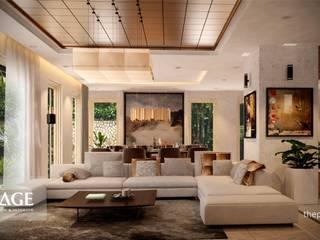 VILLA VŨNG TÀU Phòng khách phong cách châu Á bởi The Page Interior & Design Châu Á