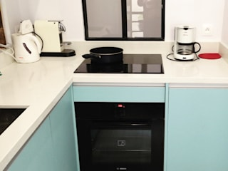 kitchen renovation jun wan dumont KitchenElectronics Wood Blue