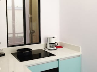 kitchen renovation jun wan dumont 廚房電器用品 木頭 Blue