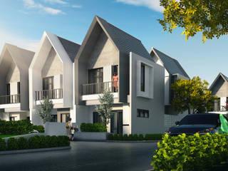 Clover Park Town House:  Rumah by Atelier BAOU+