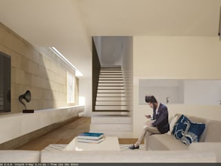 HJS: Salas de estar  por Terra Arquitectos,Moderno
