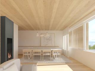 HCP: Salas de jantar modernas por Terra Arquitectos