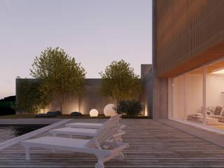 HCP: Piscinas  por Terra Arquitectos,Moderno