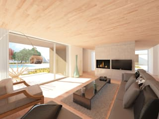 HHD: Salas de estar modernas por Terra Arquitectos