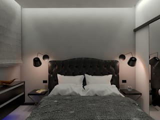 ULA architects Eclectic style bedroom Black
