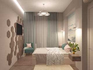 Квартира 76 кв.м в ЖК Фили Град Спальня в скандинавском стиле от owndesign Скандинавский