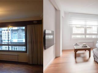 Antes_Después Salón: Salones de estilo  de MAGA - Diseño de Interiores