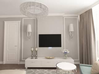 Квартира 66 кв.м Гостиные в эклектичном стиле от owndesign Эклектичный