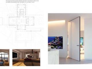 Villa a Frosinone: Soggiorno in stile  di Kei_en.enzocalabresedesignstudio Srl, Moderno