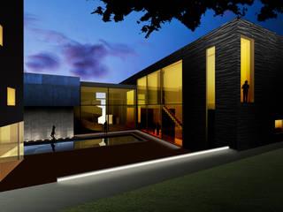 Emasealu House in Abuja: Giardino in stile  di Kei_en.enzocalabresedesignstudio Srl, Moderno