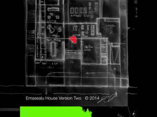 Emasealu House in Abuja: Soggiorno in stile  di Kei_en.enzocalabresedesignstudio Srl, Moderno