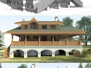 Дом под Ярославлем: Дома в . Автор – Архитектурное бюро Оксаны Костюченко & C