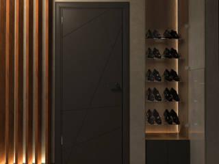 Частный дом г. Питер Коридор, прихожая и лестница в стиле лофт от owndesign Лофт