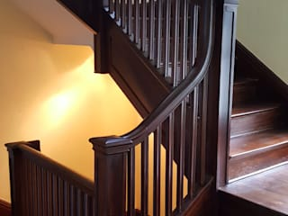 Pine Stairwell Restoration by Shine Star Flooring Classic