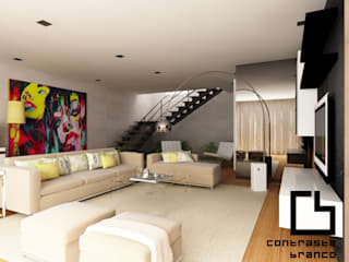 Design de Interiores de Moradia Moderna CCB _ V.N.Gaia: Salas de estar  por CB | Interior Design