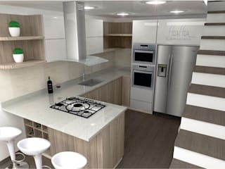 Diseño y Remodelación de Cocina de HoaHoa Espacios SAS Moderno