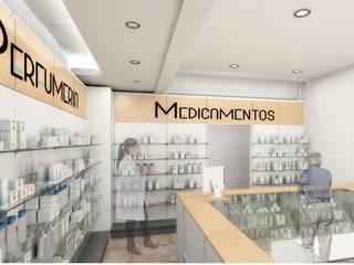 Farmacia Mariel: Estudios y oficinas de estilo moderno por EDF