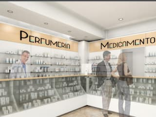 Remodelación de Farmacia: Estudios y oficinas de estilo moderno por EDF