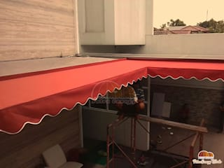 Canopy Kain Merah Jakarta Putra Canopy Balconies, verandas & terraces Accessories & decoration Tekstil Red