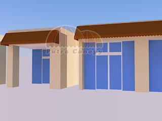 Canopy Kain Rumah (Konsep proposal) Putra Canopy Balconies, verandas & terraces Accessories & decoration Tekstil Brown