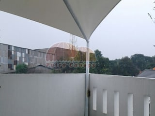 Tenda Membrane Jakarta Putra Canopy Balconies, verandas & terraces Accessories & decoration Bahan Sintetis White